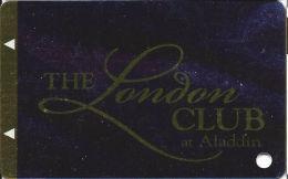 Aladdin Casino Las Vegas, NV - Slot Card - London Club - Metallic Front (BLANK) - Casino Cards