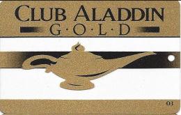 Aladdin Casino Las Vegas, NV - See-Thru Clear Slot Card - 03 Bottom Right On Front (BLANK) - Casino Cards