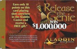 Aladdin Casino Las Vegas, NV - Slot Card - Earn 10 Points - Aladdin Card Printing - Casino Cards