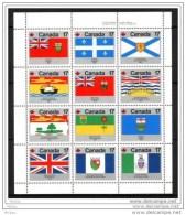 Canada, 1979, #821-832, Drapeaux Des Provinces Canadiennes, Drapeau, Flag - Stamps