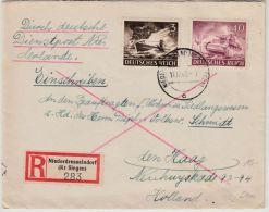 DR - 40+3 Pfg. Wehrmacht, Einschreibebrief N. HOLLAND, Niederdresselndorf 1943 - Brieven En Documenten