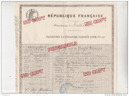 Au Plus Rapide Passeport Passport France Meurthe Et Moselle Nancy 2 Août 1897 Timbre Fiscal Sec Très Bon état - Documents Historiques