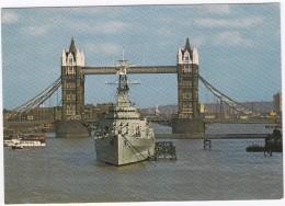 London: H.M.S. BELFAST - Tower Bridge - Guerra
