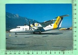 CPM, AVION: Brymon Airways, DHC DASH 7  Sur La Piste De Chambery - 1946-....: Moderne