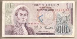 Colombia - Banconota Circolata Da 10 Pesos - 1979 - Colombia