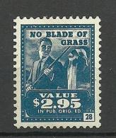 USA No Blade Of Grass Tax Revenue 2.95 USD * - Revenues