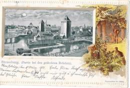 Belle Carte De STRASBOURG  - STRASSBURG - Pont Couvert - Strasbourg