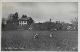 FOUNEX → Pension Fiandra Mit Kindern Beim Blumenpflücken, Ca.1940 - VD Vaud