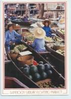 Damnoen Saduak Floating Market - Stamp - Thailand