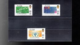 BRUNEI 419/421** SUR L ANNEE INTERNATIONALE DE L ALPHABETISATION - Brunei (1984-...)
