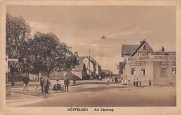 "05527 ""MOERFELDEN - AM STEINWEG"" ANIMATA. CART. PO ST. ORIG. NON SPEDITA 1918. - Moerfelden-Walldorf"
