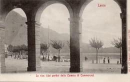 LECCO - LA RIVA - DAI PORTICI DELLA CAMERA DI COMMERCIO - VIAGGIATA - Lecco