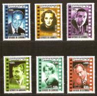 Cambodge Cambodja 2001 Yvertn° 1813-1818 *** MNH  Cote 11,00 Euro Cinéma Acteurs - Cambodge