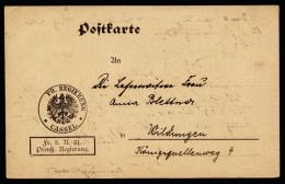 A4009) DR Vordruckkarte Der Pr. Regierung Cassel 23.3.20 Nach Wildungen - Deutschland