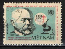 VIETNAM - 1983 - ROBERT KOCH - SCOPERTA DEL BACILLO DELLA TUBERCOLOSI - CENTENARIO - USATO - Vietnam