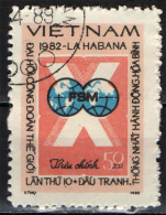 VIETNAM - 1982 - CONGRESSO INTERNAZIONALE DEL SINDACATO DEI LAVORATORI A CUBA - USATO - Vietnam