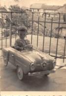 """D4290 """"AUTOMOBILINA A PEDALI CON BAMBINO"""" ANIMATA. FOTOGRAFIA ORIGINALE. - Automobili"""