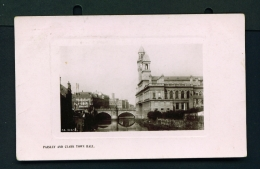 SCOTLAND  -  Paisley And Clark  Town Hall  Used Vintage Postcard As Scans - Renfrewshire