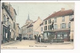 Carte De Saint Leu  Place De La Forge  ( Recto Verso ) - Saint Leu La Foret
