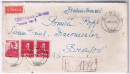 Romania Scrisoare Barlad- Brasov 10 Sept 1942 / Cenzura Barlad / Expres Recomandata / Sanatoriul Diaconeselor Brasov - 2. Weltkrieg (Briefe)