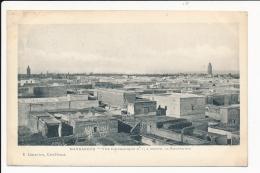 Carte  Du  Maroc   Marrakech  à Droite  La Koutoubya ( Recto Verso ) - Marrakech