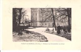 """Paray Le Monial (Saône Et Loire)-1926-Maison La Colombière En Hiver-exp. """"Broderies Artistiques"""" Roville Aux Chênes-scan - Paray Le Monial"""