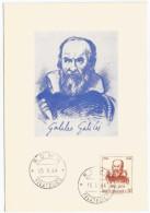 Galileo Galilei IV Centenario Della Nascita, Fisico - Astronomo - Filosofo - 1564  1964 - Cartoline Maximum