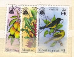 XP319 - MONTSERRAT , La Serie Completa Usata N. 562/564 . - Montserrat