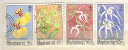 XP318 - MONTSERRAT , La Serie Completa Usata N. 565/568 . Orchidee - Montserrat