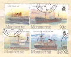 XP322 - MONTSERRAT , La Serie Completa Usata N. 550/553 . Ships - Montserrat