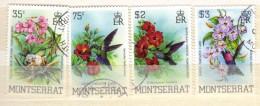 XP323 - MONTSERRAT , La Serie Completa Usata N. 517/520 . Birds - Montserrat