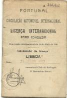 Licença Internacional Para Conduzir - 1967 - Historische Dokumente