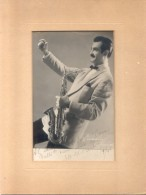 SAXO SAXOFONISTA VARELA AUTOGRAFO AÑO 1948 DEDICADO AL MUSICOLOGO Y EDITOR DE MUSICA ITALO GALLI RARE - Autogramme & Autographen