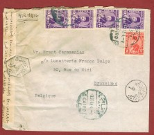 Brief Cairo - Brussels Airmail 3/9/1948 & Egyptische Censuur - Égypte