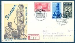 SAHARA , ED. 239 / 241 , SOBRE DE PRIMER DIA DE CIRCULACIÓN , XXV AÑOS DE PAZ , CIRCULADO A MADRID , LLEGADA - Sahara Español
