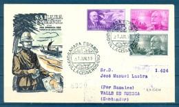 SAHARA , ED. 120/ 122 , SOBRE DE PRIMER DIA DE CIRCULACIÓN , CIRCULADO A RAMALES, LLEGADA - Sahara Español