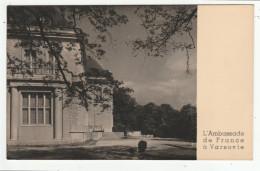 L'Ambassade De France à VARSOVIE - Photo Au Bromure - Format: 8,7 X 13,8 Cm - Polonia