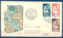 SAHARA , ED. 101/ 103 , SOBRE DE PRIMER DIA DE CIRCULACIÓN , CIRCULADO A BARCELONA, LLEGADA - Sahara Español
