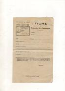 FICHE DE DEMANDE DE CHAUSSURES VIERGE COMMUNE DE LA FERTE SAINT AUBIN - Vieux Papiers