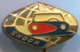 SKODA - Car, Auto, Automotive, Enamel, Vintage Pin, Badge - BMW