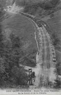 SAINT-URSANNE → Chemin De Fer Entre Les Deux Tunnels De La Croix Et De La Cotatte 1911 - JU Jura