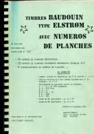 Belgique : Timbres Baudouin Type Elstrøm  Avec N° De Planches - Philatélie Et Histoire Postale
