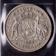 Australia 1953 Florin - Monnaie Pré-décimale (1910-1965)