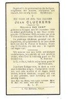 1037 JEAN CLUCKERS SEMPST 1868 + 1933 - Devotion Images