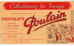 Mai16   747798     Buvard   Chocolat  Poulain  Pour Qui ça Donne Du Courage - Cocoa & Chocolat
