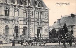 Cpa C P A 78  Château De Bonnelles Départ Pour La Chasse à Courre équipage Chiens Cor 1924  Carte   Circulée Yvelines - Francia