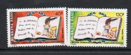 1990 Burkina Faso  Literacy Education Complete Set Of 2 MNH - Burkina Faso (1984-...)