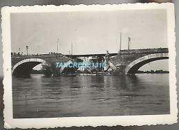 WW2 PHOTO ORIGINALE ALLEMANDE 1940 Pont Ko à LES PONTS DE CE Près Angers MAINE ET LOIRE 1940 - 1939-45