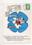 CARTE 1° JOUR FLAMME DU 19 FEVRIER 1990 ERMONT - 1990-1999