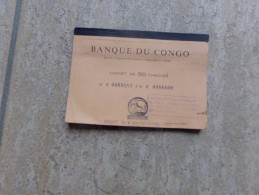 Banque Du Congo, Carnet De 43 Cheques 1967 - Monedas & Billetes